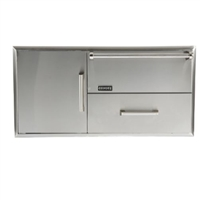 Coyote Combo Warming Drawer plus Single Pullout Drawer