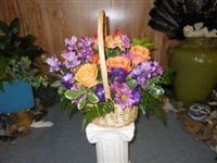 Basket of Flowers name your color