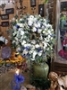 "Blue and White 24"" Round Wreath"