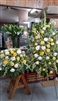 Combo White and Yellow Casket and Easel Spray