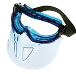Goggle Face Shield Combo Clear w/Blue Frame