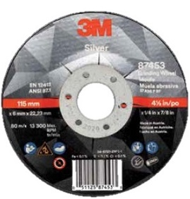 "3M™ Silver 4.5"" & 5"" Depressed Center Wheels"