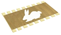 Twin Bed Slats Support Boards Canvas Burlap White Bunny Animal Character Applique