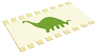 Twin Bed Slats Support Boards Canvas Burlap Dinosaur Animal Character Applique