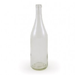 Bottle 750 ml Burgundy Clear flat