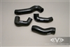 High Performance Porsche Turbo Silicone Boost Hose Kit (Black)