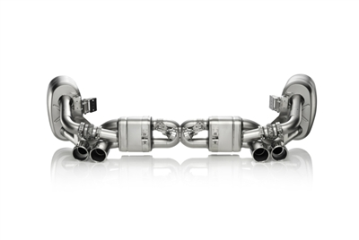 Akrapovic Slip-On Line (Titanium) Exhaust System 991 Carerra EVOMS