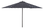 Lauren & Company 9' Black/White Moroccan Pattern Patio Umbrella