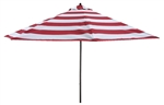 Lauren & Company 9' Red Stripe Aluminum Patio Umbrella
