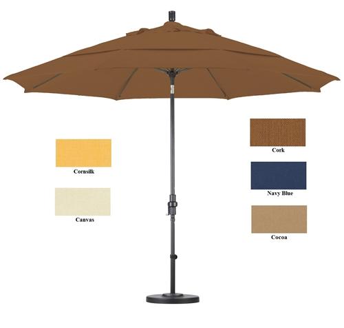 Patio Umbrella Alternative: Ultra Premium Sunbrella 11 Ft Patio Umbrella With Stand
