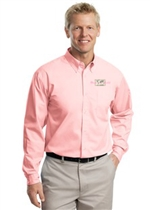 Easy Care Woven Shirt-Pink