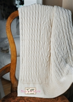 USMS Cable Knit Throw Pink