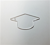 "Graduation Cap 3"" *Side hole for Tassel*"