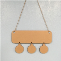 Holiday Wall Hanger with 3 Items