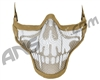 2G Strike Steel Half Airsoft Mask - Tan Skull