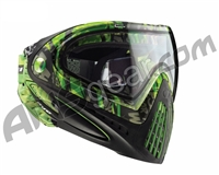 2012 Dye Invision Goggle I4 Pro Mask - Lime Tiger