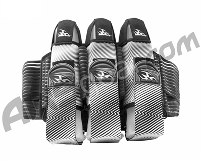 2012 Empire Liquid Breed Paintball Harness - 3+6 - Black & White ZZ