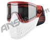 Empire E-Flex Paintball Mask - Red/White/White