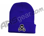 HK Army Skull Beanie - Blue/Black Stitch