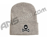 HK Army Skull Beanie - Grey/Black Stitch