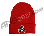 HK Army Skull Beanie - Red/Black Stitch