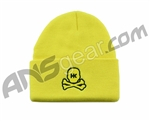 HK Army Skull Beanie - Yellow/Black Stitch