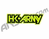 HK Army Typeface Sticker - Yellow