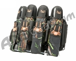 2012 Valken Crusade Paintball Harness 4+7 - Static Green/Orange