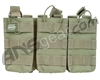 Valken Airsoft Tactical AR Triple Magazine Pouch - Green