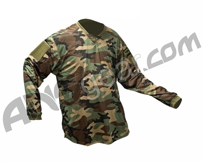 Valken V-Tac Echo Paintball Jersey - Woodland