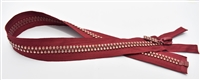 "Rumba Red Crystal Zips by Ayanski 60cm (23.5"")"