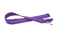 Purple Helliotrop Crystal Zips by Ayanski 60cm