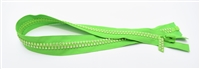 "Lime Green Crystal Zips by Ayanski 60cm (23.5"")"