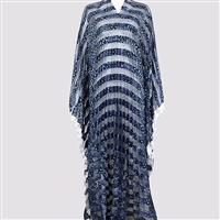 Ribbon Organza Pleated Kaftan