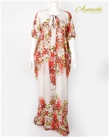 Ayanski Silk Kaftan with Butterfly Hand and Front Neck Bow Tie Large Size  RTW25D484KFSK56