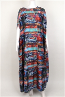 Stoned Ayanski Silk Kaftan Two Layer RTW32D1182KFSK56S Size 56