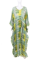 Ayanski Finished Ribbon Organza Pleated Kaftan RTW43D1311PROK62 Size - 62