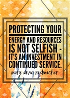 Protecting Your Energy and Resources Greeting Card