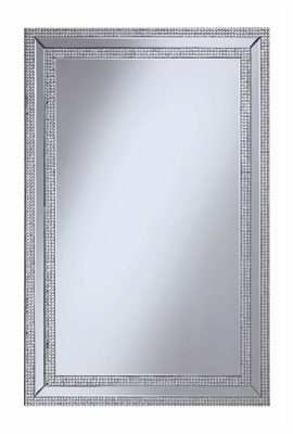 Rectangular Silver Finish Wall Mirror