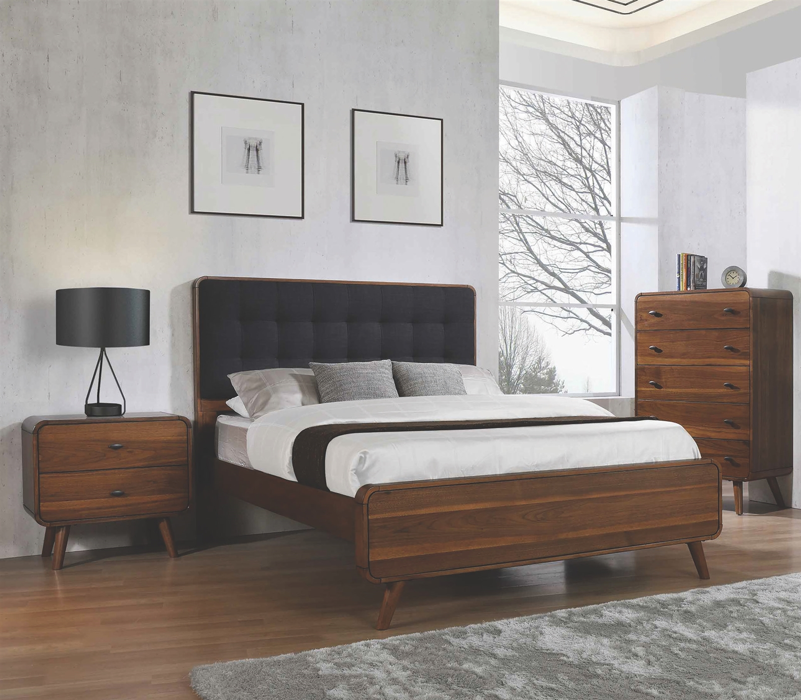 Mid Century Modern Bedroom Group By Coaster 205131