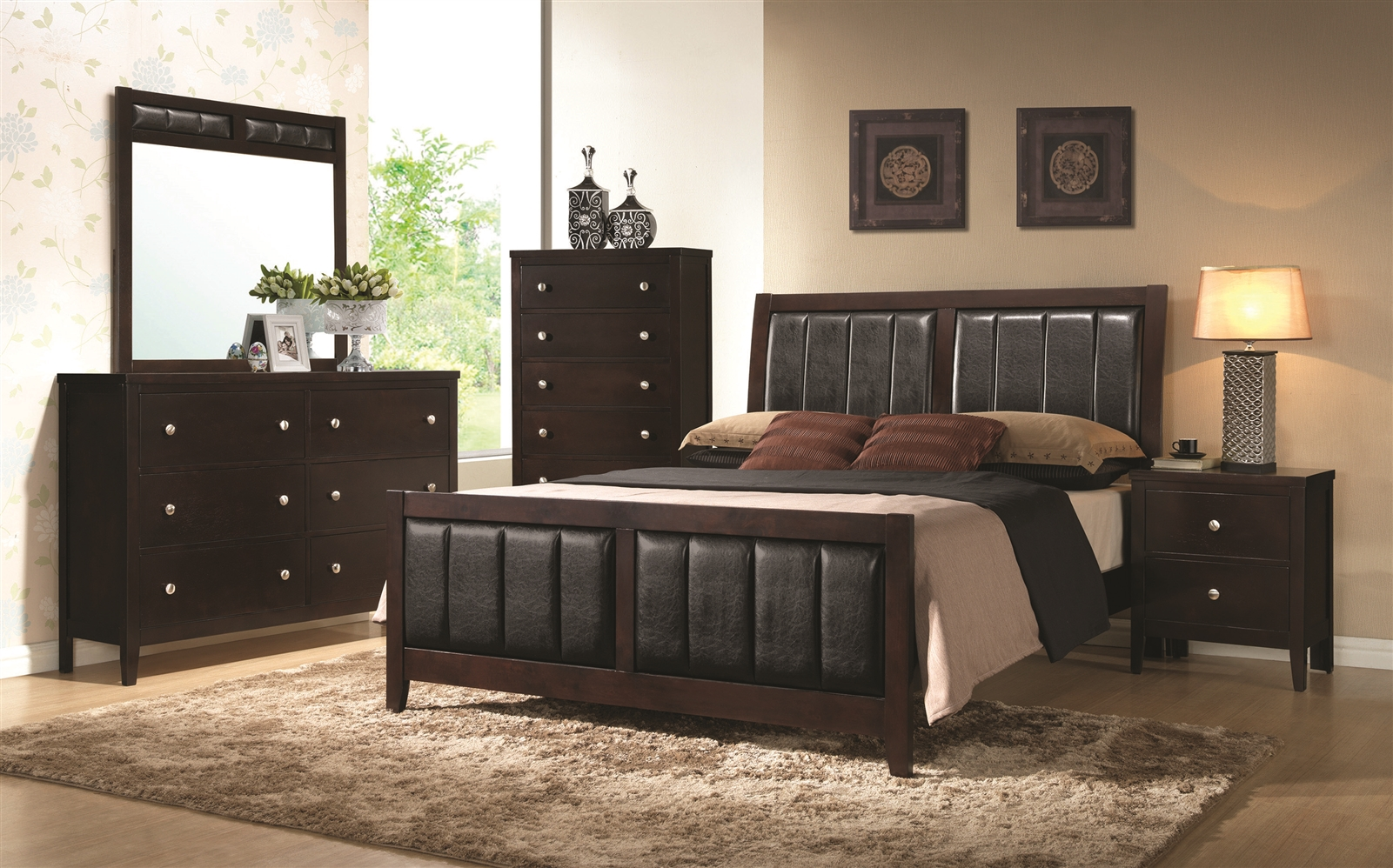 Clay Collection Contemporary Queen Bed with Upholstered Headboard