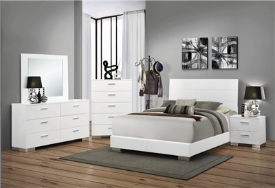 Roxbury Modern White Bedroom Group
