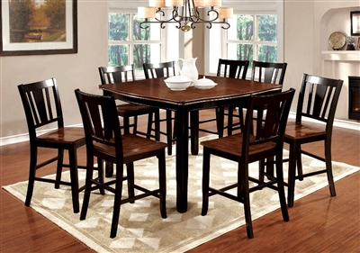 Transitional Style 7 Piece Counter Height Dining Set