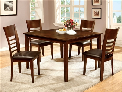 Hillsview 5 Piece Dark Cherry Finish Counter Height Dining Set