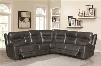 Top Grain Leather Power Reclining Sectional
