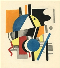 Fernand Leger 1929 pochoir, edition of 1000