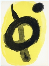 "Joan Miro ""Yellow"" original lithograph, 1961"