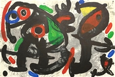 "Joan Miro ""Ronde de nuit"" Nightwatch, original lithograph, 1970"