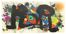 "Joan Miro ""Sculptures I"" original lithograph, 1974"