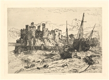 "Mary Nimmo Moran original etching ""'Castle"""